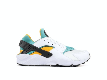 Air Huarache White Turquoise Gold