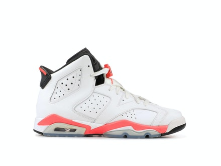 Air Jordan 6 Retro BG Infared White 2014
