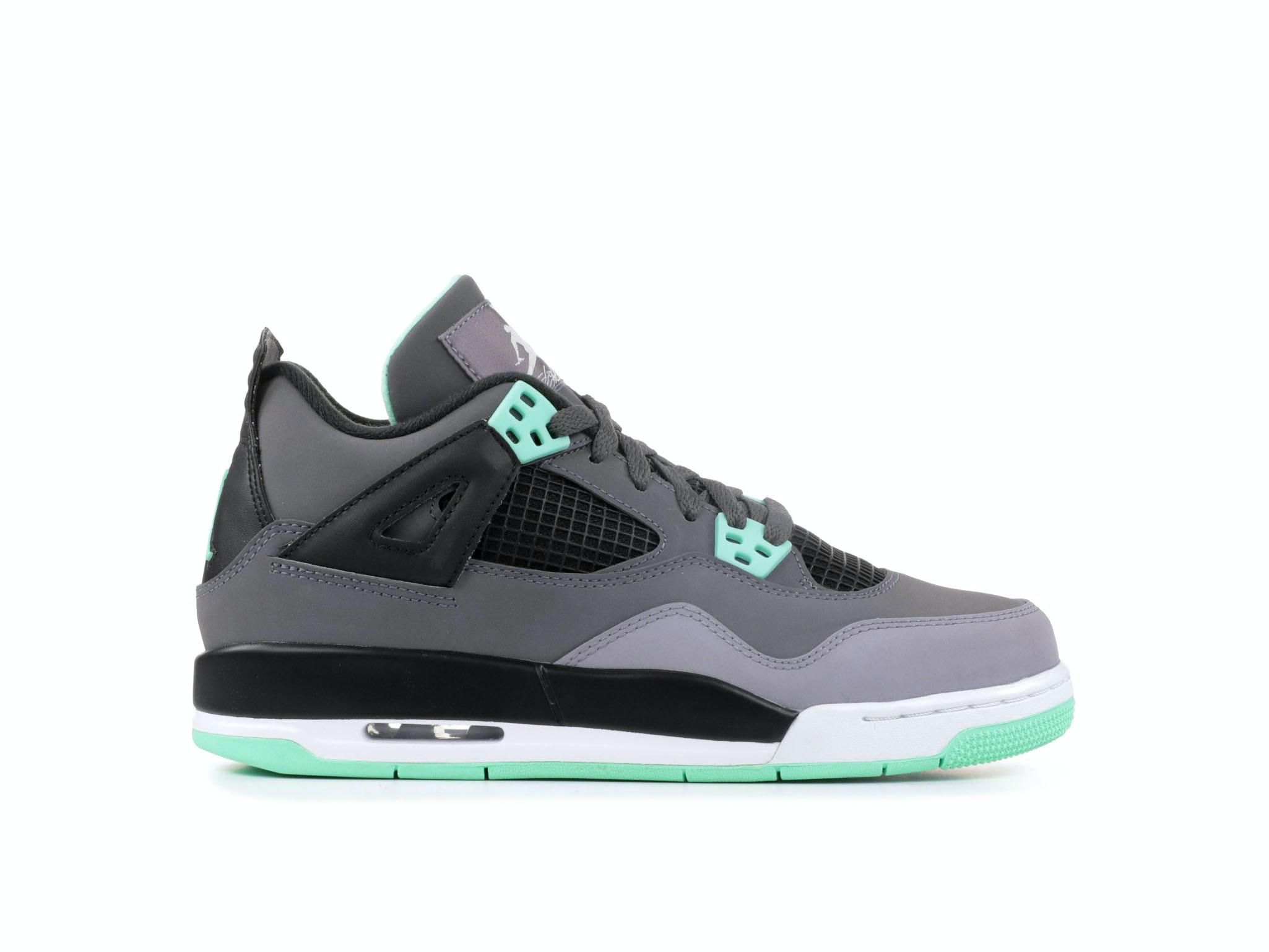 sports shoes 5139c 3a2ee Air Jordan 4 Retro GS Green Glow