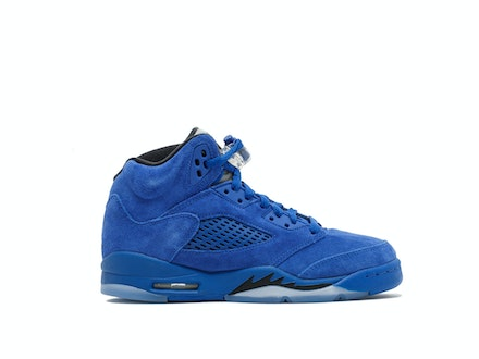 Air Jordan 5 Retro GS Blue Suede