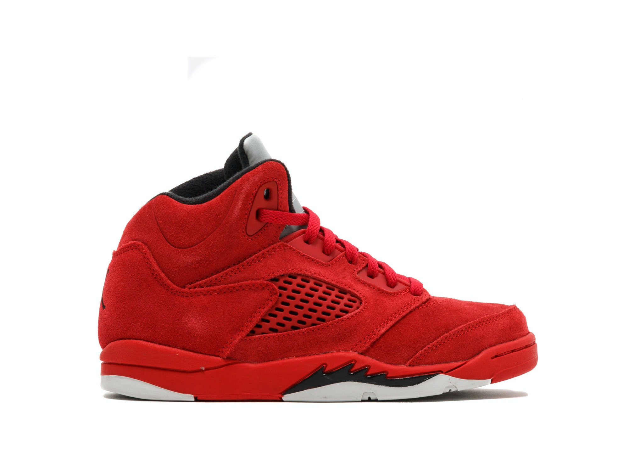 77f42dc419b Shop Air Jordan 5 Retro PS Red Suede Online | Laced