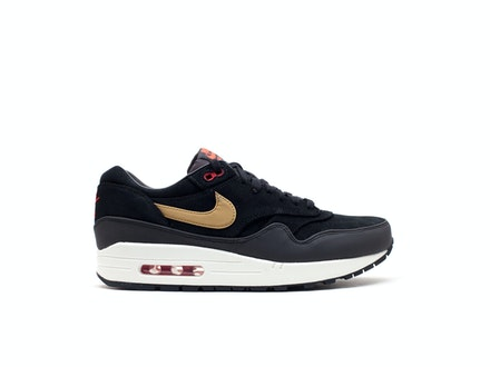 Air Max 1 Premium Gold Hyper Red