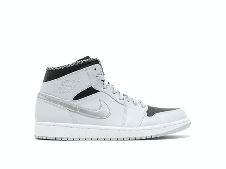 Air Jordan 1 Retro Mid Pure Platinum Metallic