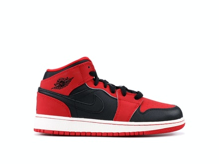 Air Jordan 1 Mid BG Black Gym Red
