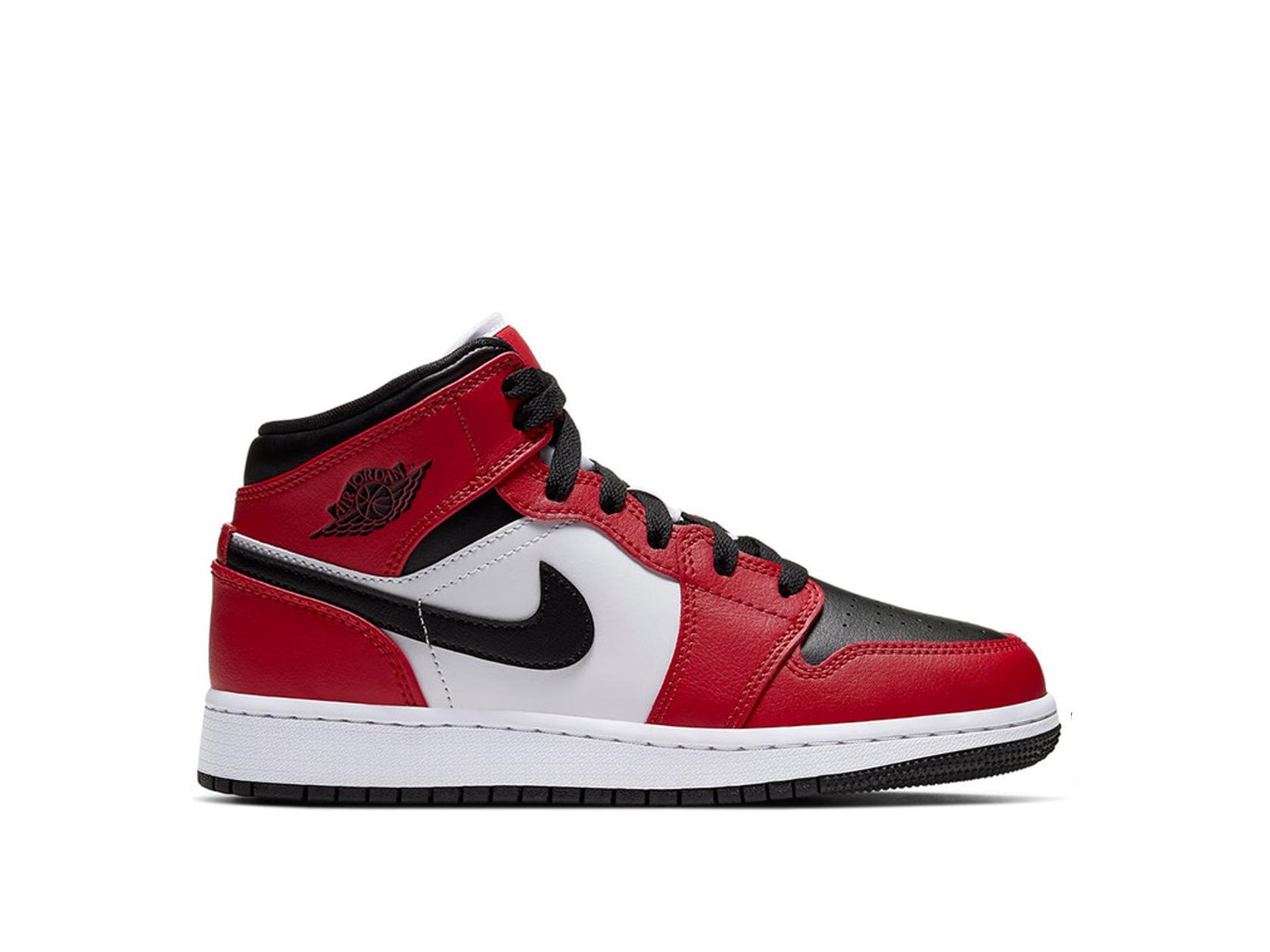 Air Jordan 1 Mid Chicago Toe GS