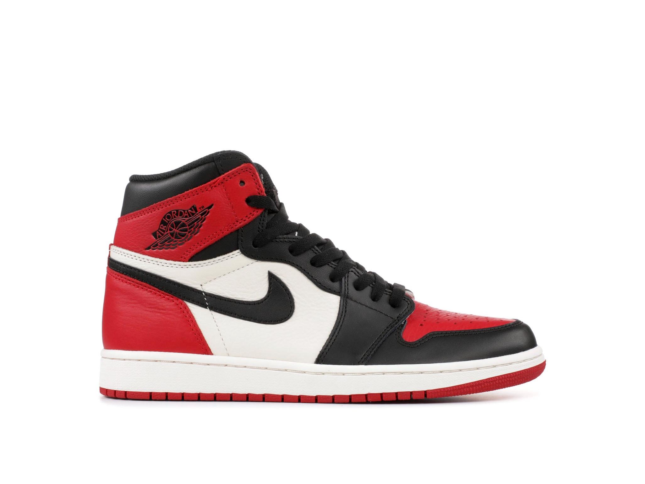 87f60ae3eb25f9 Shop Air Jordan 1 Retro High OG Bred Toe Online