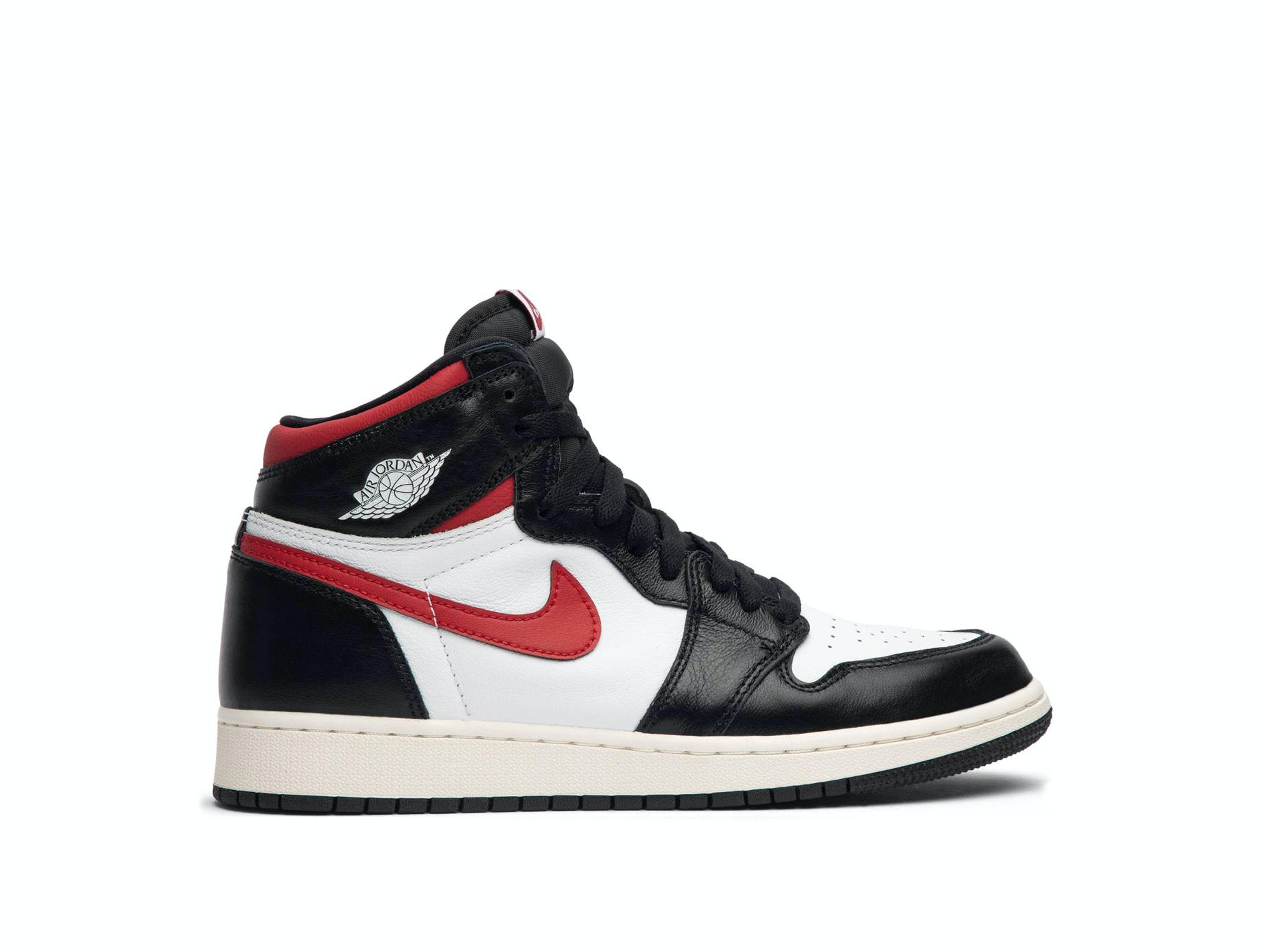 f35c26cc081 Shop Air Jordan 1 Retro High Black Gym Red (GS) Online | Laced
