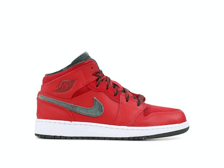 Air Jordan 1 Mid Premium BG Red Dark