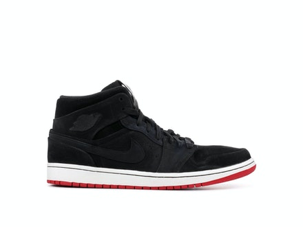 Air Jordan 1 Mid Nouveau Black Red Bred