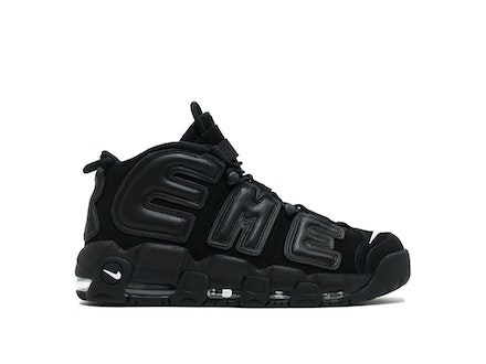 Air More Uptempo x Supreme Black