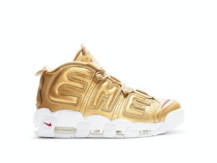 Air More Uptempo x Supreme Metallic Gold