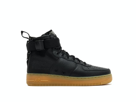 SF Air Force 1 Mid Black Gum