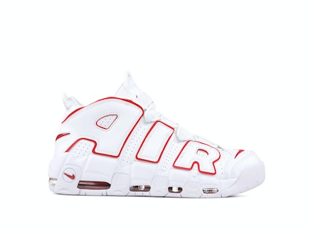 Air More Uptempo White Varsity Red