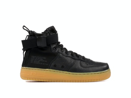 SF Air Force 1 Mid GS Black Gum