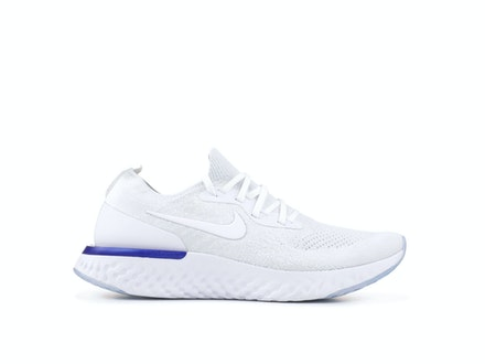 Epic React Flyknit White Racer Blue