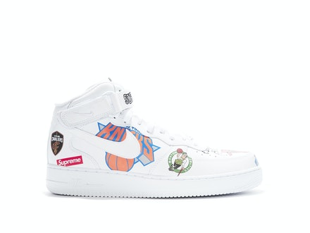 Supreme x Air Force 1 Mid 07 NBA White