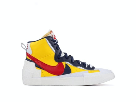 Blazer Mid x Sacai Maize Navy