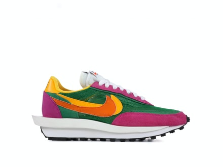 Nike LDV Waffle x Sacai Green Pink