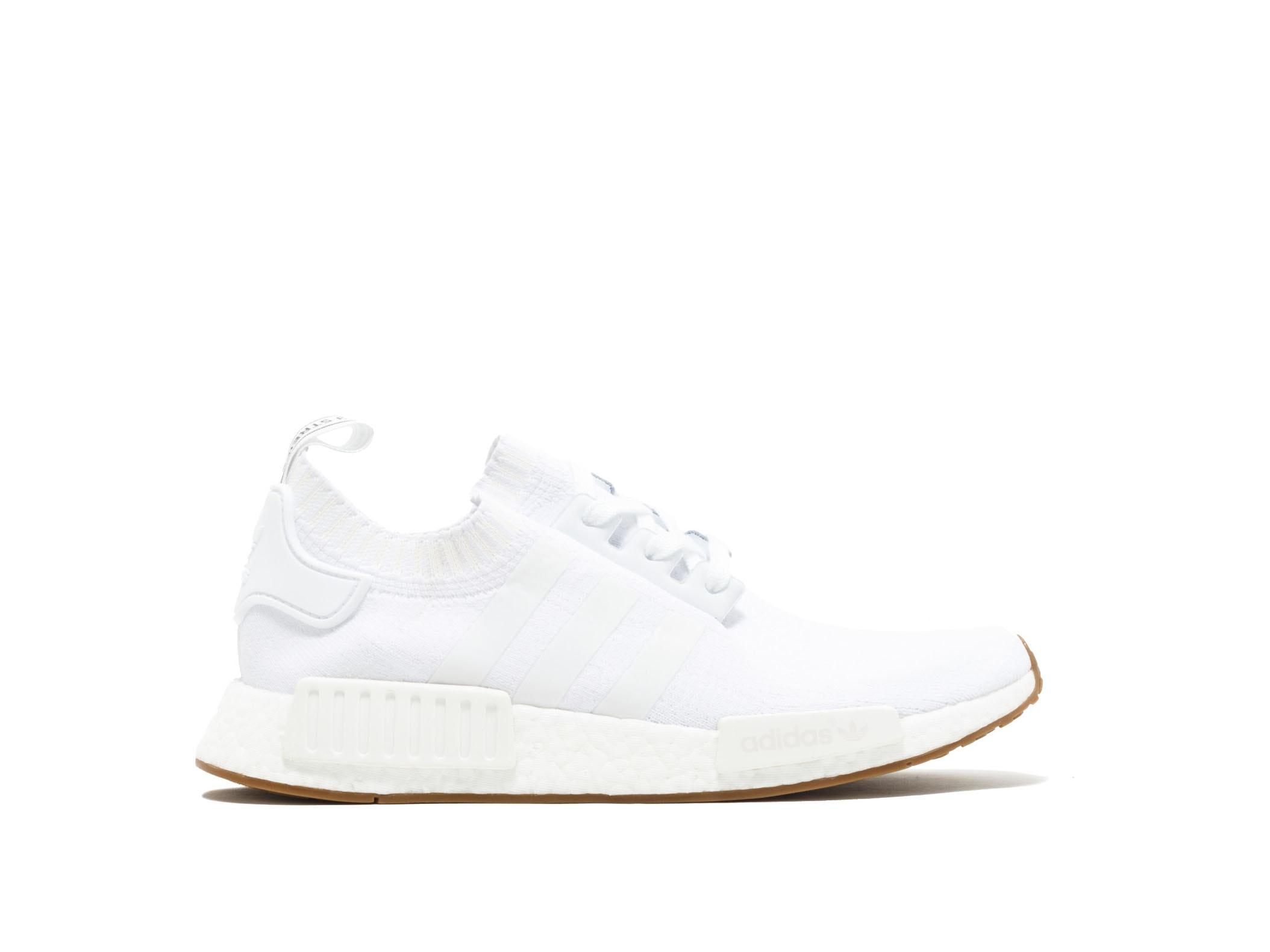 1ab9cf96e11c7 Shop White Gum Primeknit NMD R1 Online