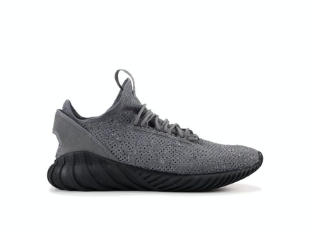 Grey Core Black Tubular Doom Sock