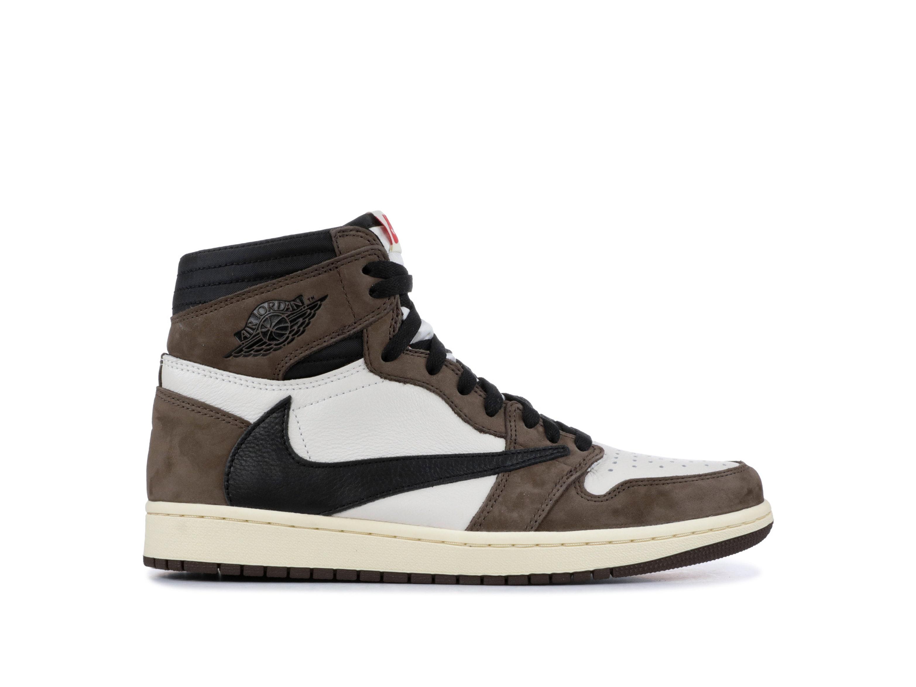 8dd6f2562a0 Shop Travis Scott x Air Jordan 1 Retro High OG 'Mocha' Online | Laced