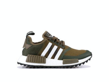 Olive Primeknit NMD R1 x White Mountaineering