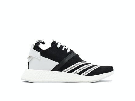 Core Black Primeknit NMD R2 x White Mountaineering