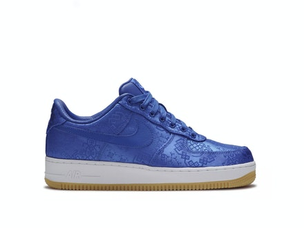 Air Force 1 x Clot Blue Silk