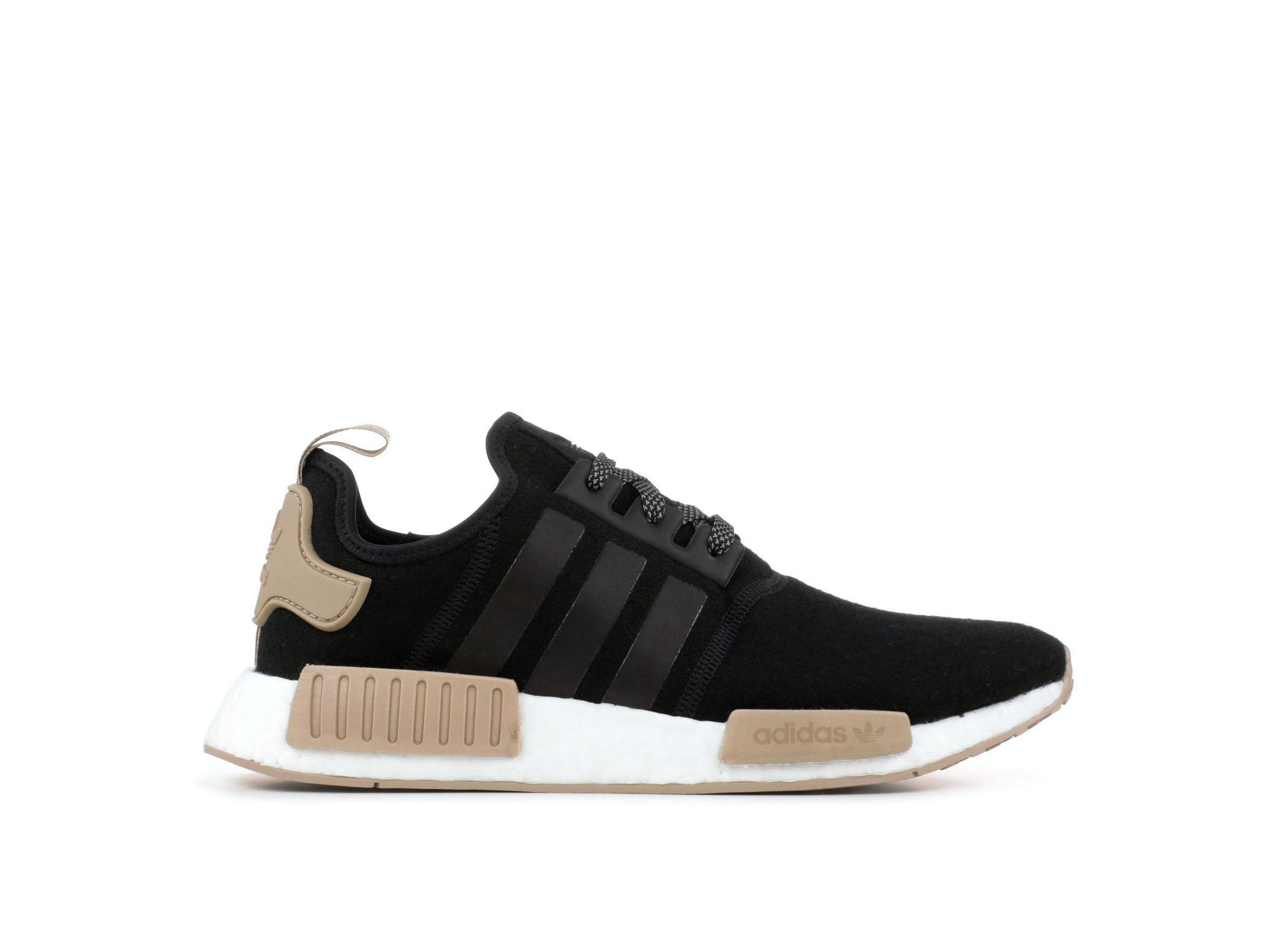 d1bfd26cd5b35 Shop Black Wool NMD R1 x Champs Sports Online