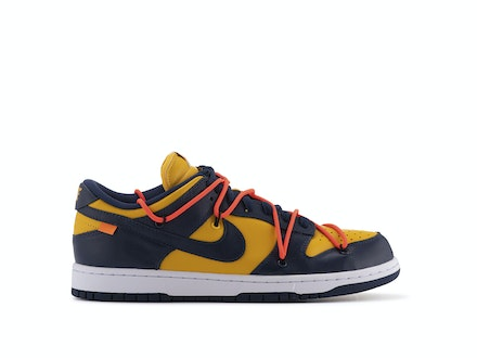 Off-White x Nike SB Dunk Low University Gold