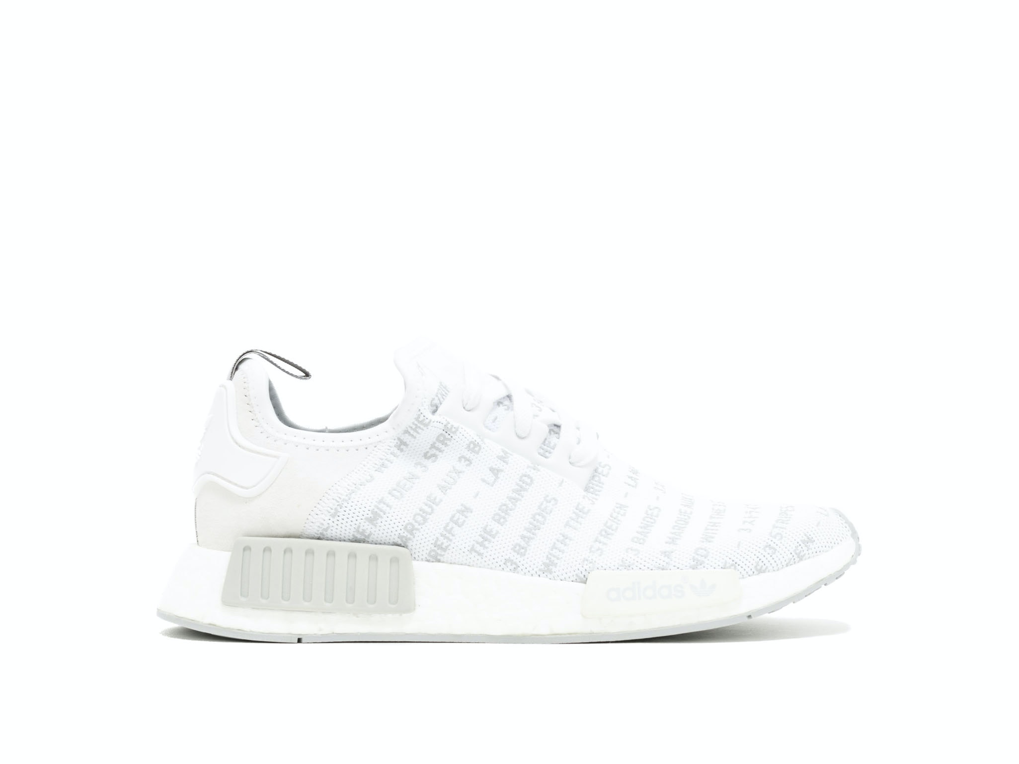 66f85d4e0d9 Shop Whiteout 'The Brand with 3 Stripes' NMD R1 Online | Laced